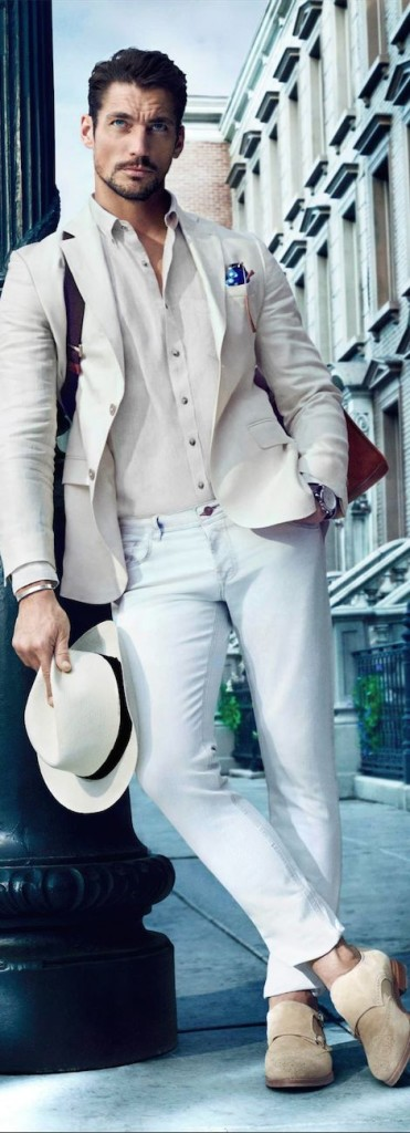 David Gandy All White