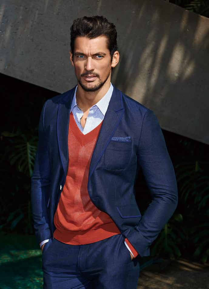David Gandy Blue Suit