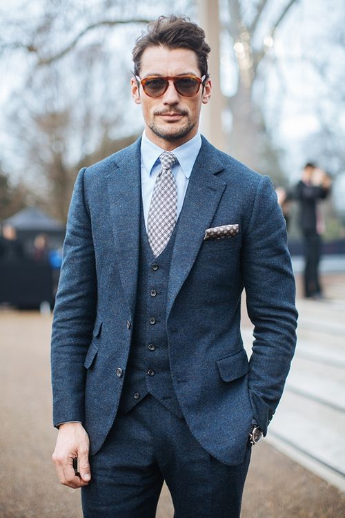 David Gandy Navy Suit