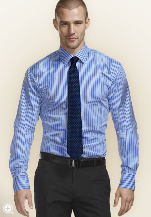 How clothes should fit style guide for Express shirt and tie