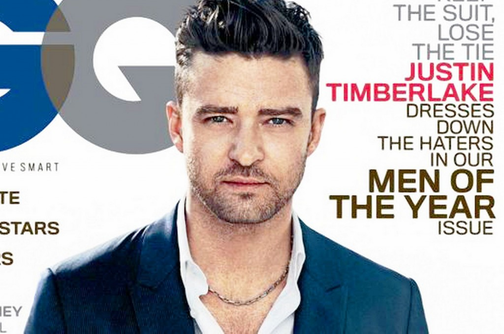 Justin Timberlake on the cover of GQ Magazine.