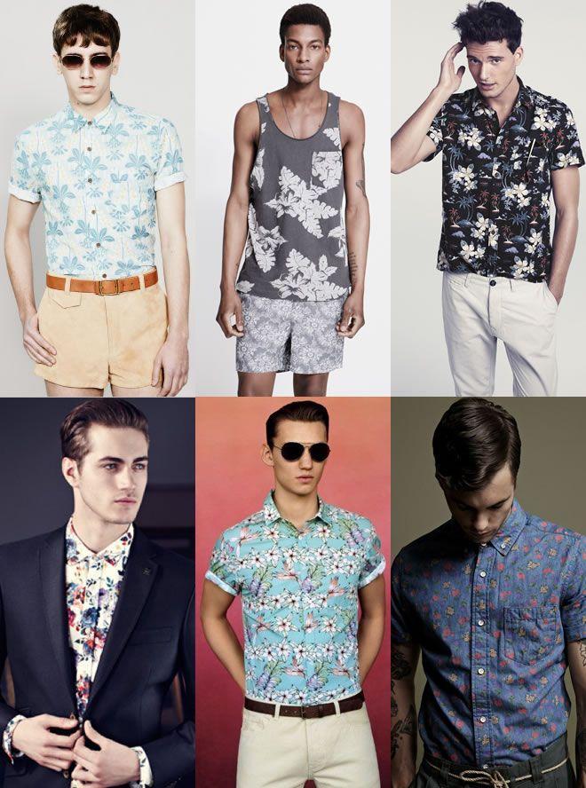 Floral Print Trends for Men SS14