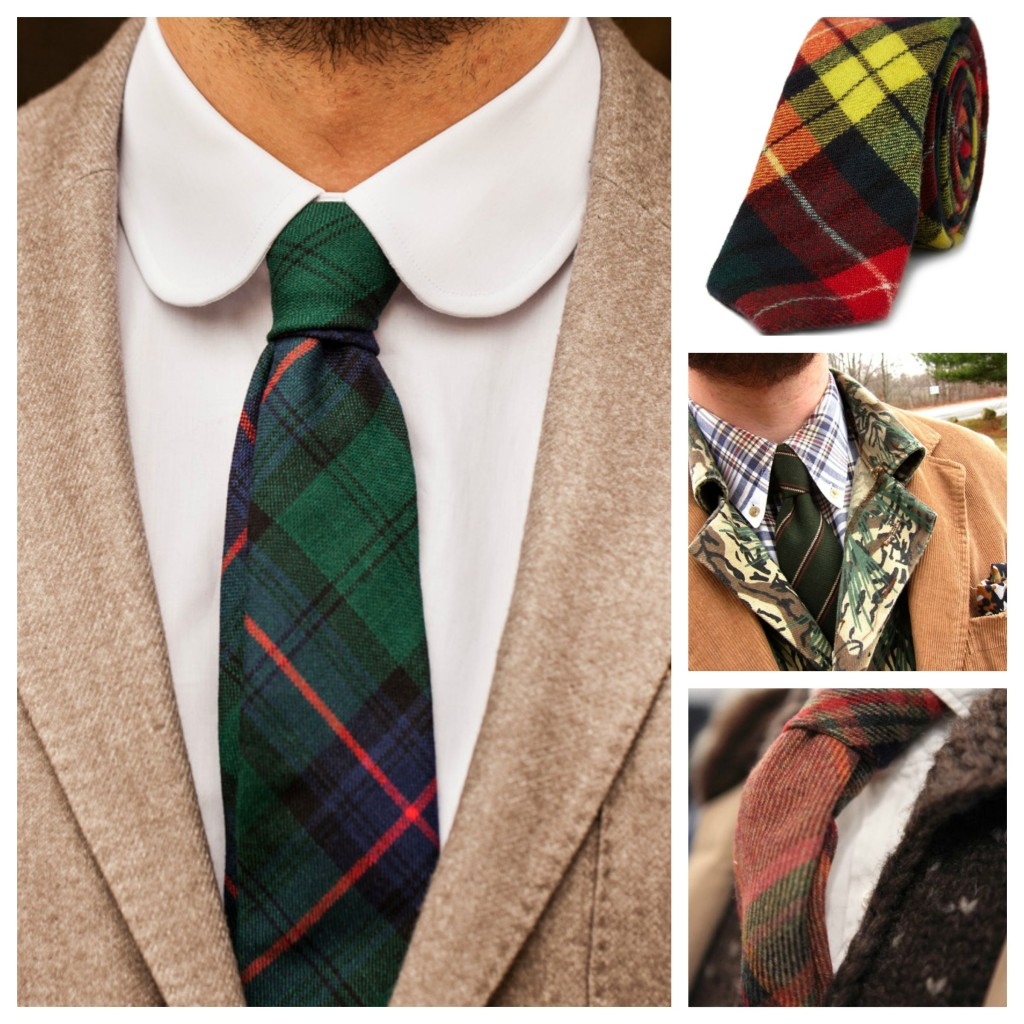 Check/Plaid Wool Ties Trends