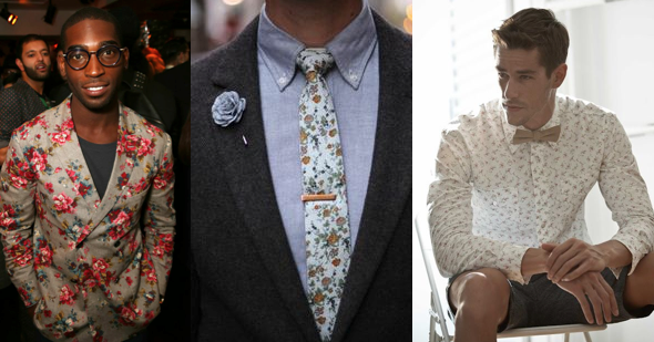 Floral Print Trends SS14 Men for Night