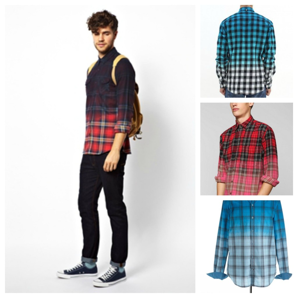Dip Dyed Check Shirt Trends