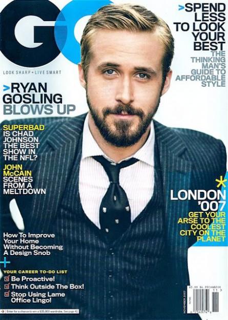 Ryan Gosling GQ Magazine Cover