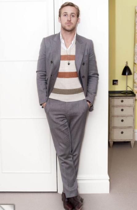 Ryan Gosling Grey Suit Style