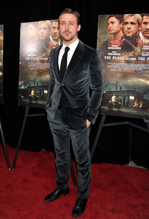 Ryan Gosling Black Velvet Suit
