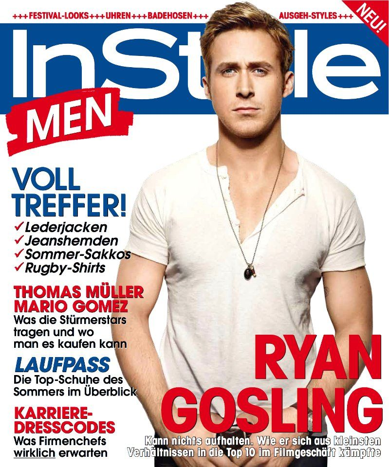 Ryan Gosling InStyle Cover Magazine Germany