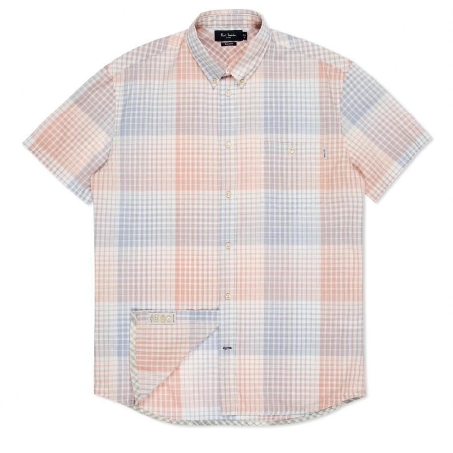 Paul Smith - Peach Check Short Sleeve Shirt