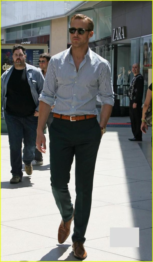 Ryan Gosling Shirt and Slacks Business Casual