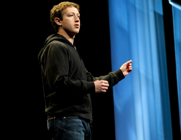 Mark Zuckerberg at Facebook wearing a Hoodie