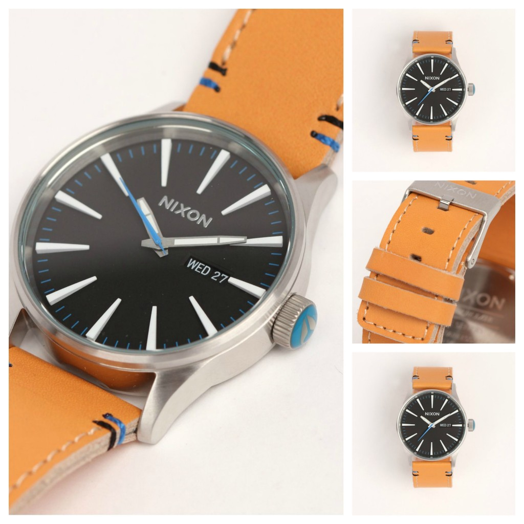 Nixon Mens Sentry Leather Watch