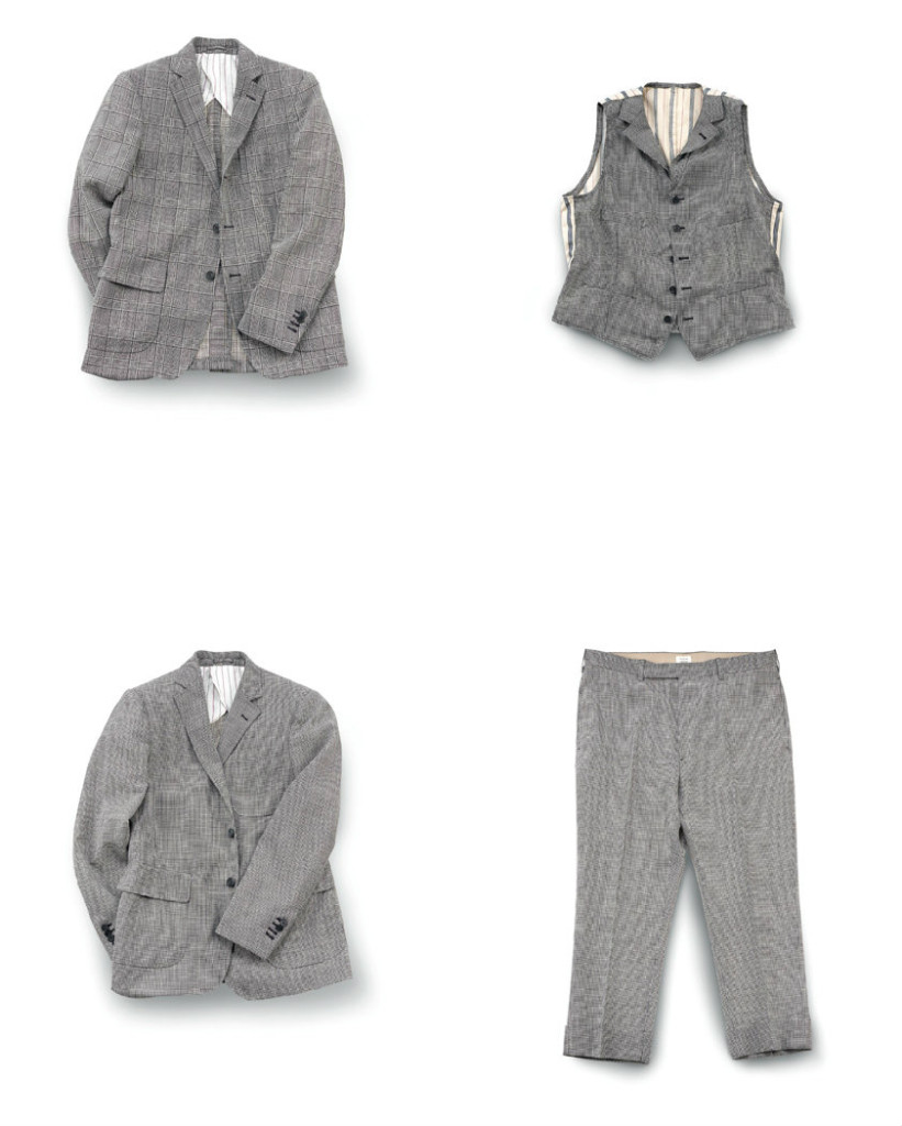 Jacket and trousers in tweed - Wooster + Lardini Collection