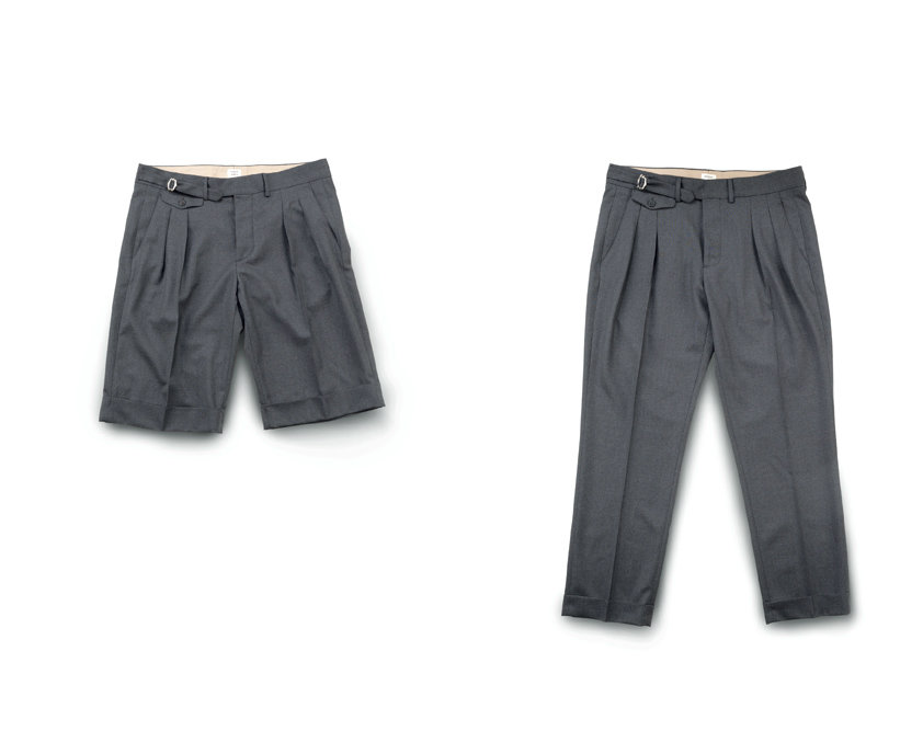 Pleated trousers - Wooster + Lardini Collection