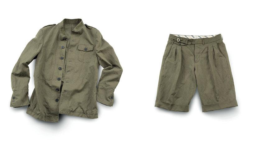 Khaki jacket and Bermuda shorts - Wooster + Lardini Collection