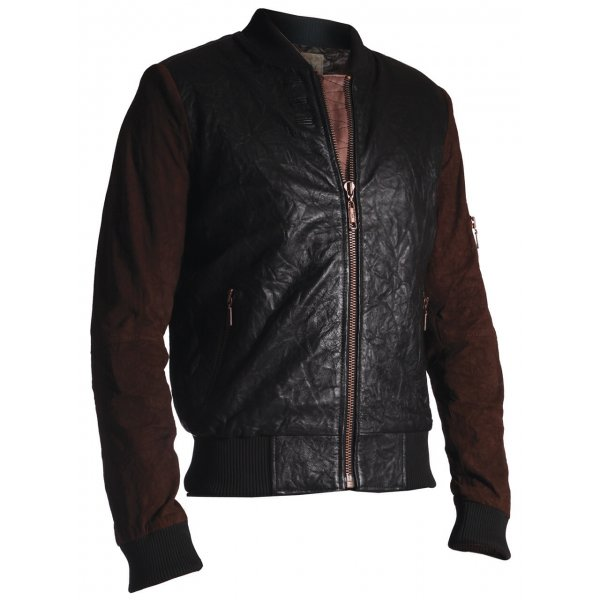 Casual Jacket Pearly King Halfway Brown Black Leather