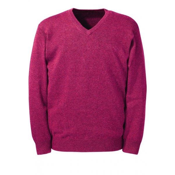 Rspberry v-Neck Brook Taverner Knitwear