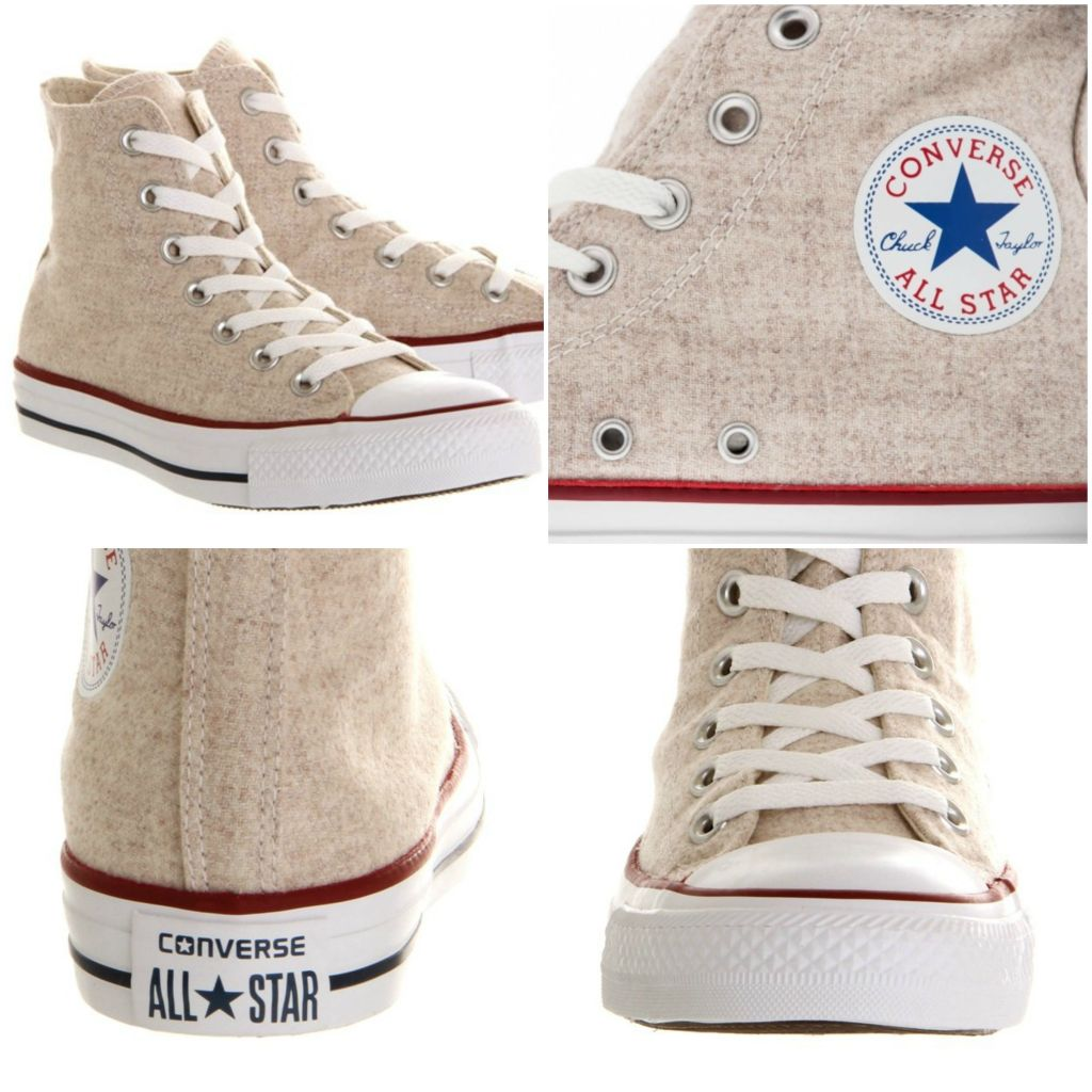 Converse All Star Hi White Cap Grey
