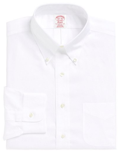 Non Iron Traditional Fit Button Down Collar Dress Shirt by Brooks Brothers