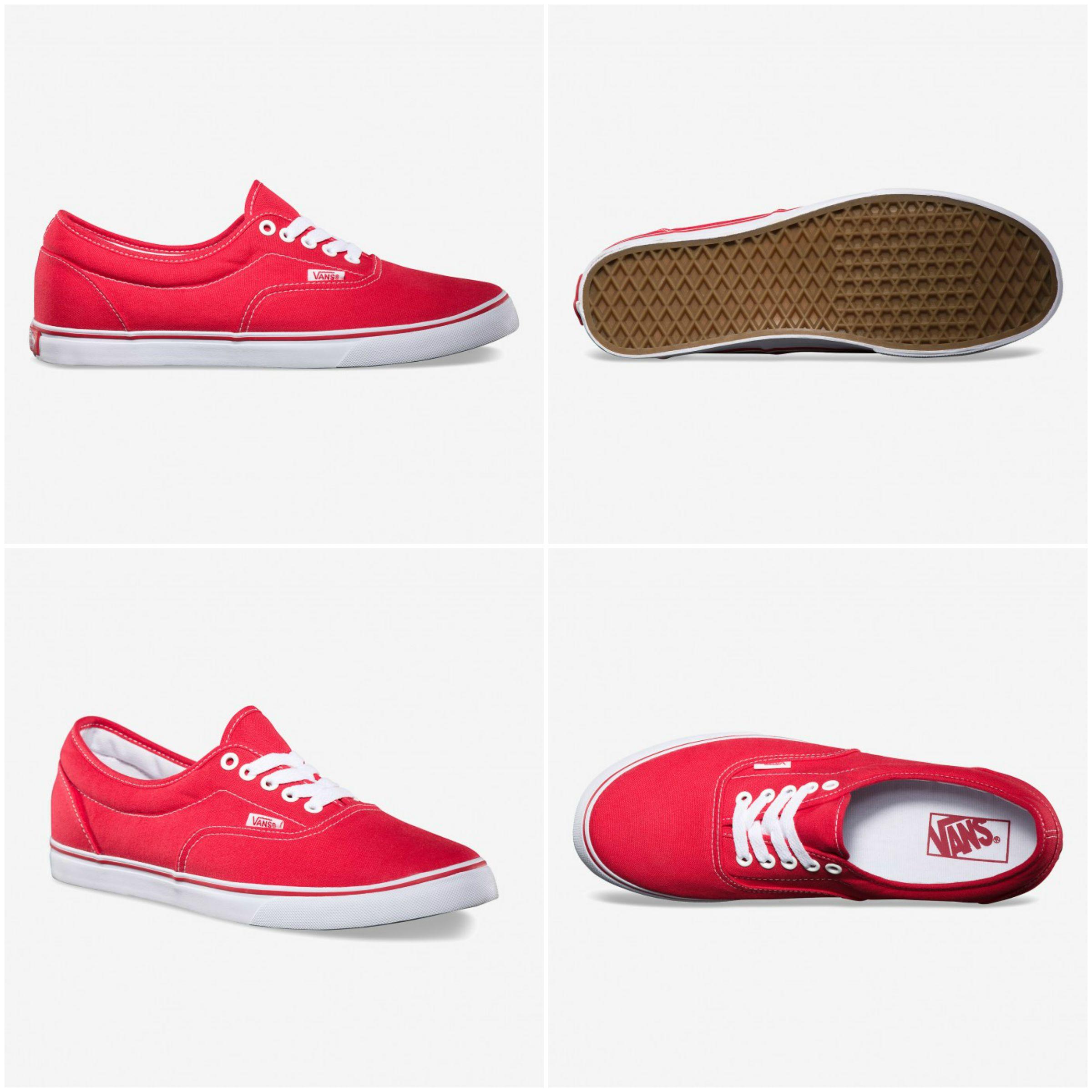 vans shoes red colour