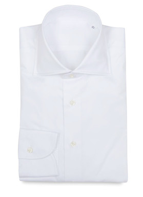 White Twill Shirt P.Johnson Tailors
