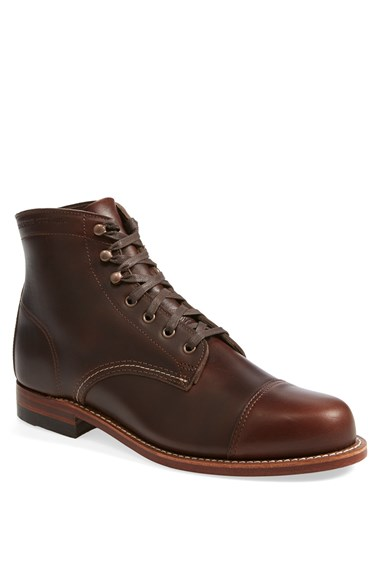 Wolverine 1000 Mile McClean Cap Toe Boot in Brown for Men