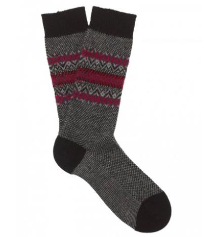 Cashmere Fairisle Socks by Sunspel