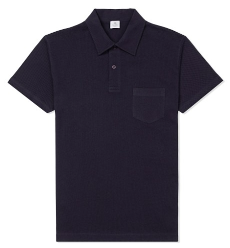 Navy Riviera Polo Shirt by Sunspel - worn by Daniel Craig in James Bond