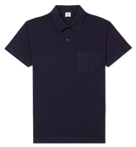Navy Riviera Polo Shirt by Sunspel - worn by Daniel Craig in James Bond