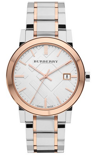 Large Check Stamped Bracelet Watch by Burberry
