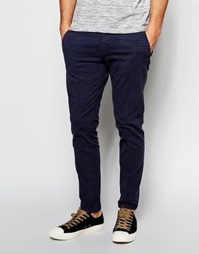 Super Skinny Check Trousers by Anthony Morato - Gift Ideas for Men