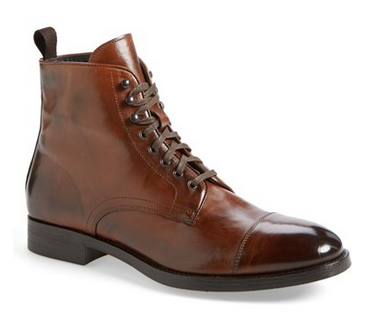 Brown Cap Toe Boot by To Boot New York