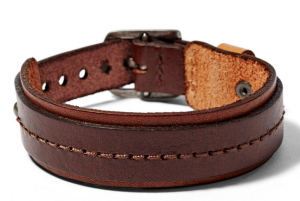 Stitched Leather Brown Bracelet by Fossil