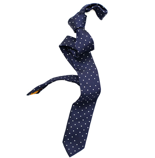Navy Dots Tie by Ulterior Motive - Gift Ideas for Men