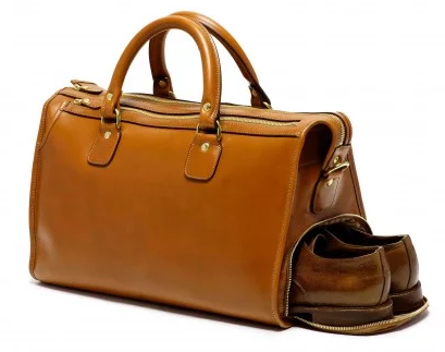 Chestnut Leather Duffle by Ghurka