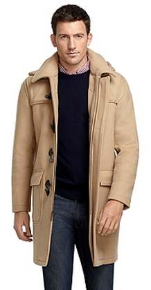 Camel Duffle Coat by Brooks Brothers - Gift Ideas for Men
