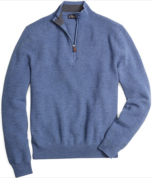 Merino Wool Blue Sweater by Brooks Brothers - Gift Ideas for Men