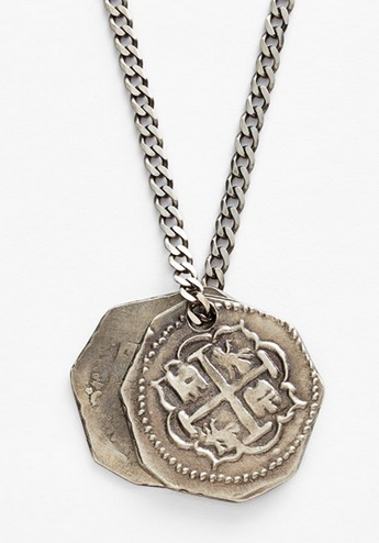 Treasure Coin Silver Necklace by Miansai