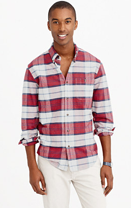 Red & White Shirt by J. Crew - Gift Ideas for Men