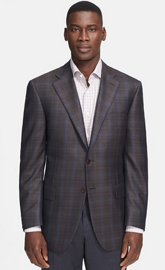 Brown Plaid Blazer by Canali - Gift Ideas for Men