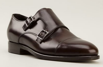 Brown Double Monk Straps by Canali