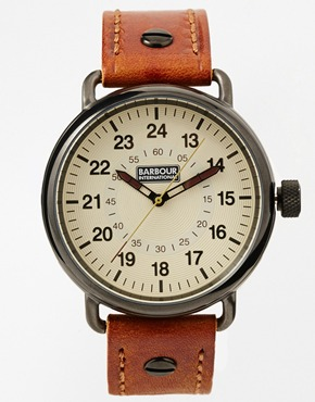 Brown Leather Watch by Barbour International