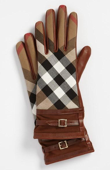 Burberry House Check Gloves