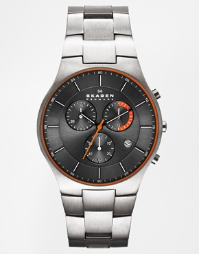 Chronograph Stainless Steel Watch by Skagen