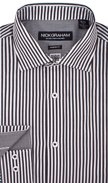 B&W Candy Stripe Shirt by Nick Graham