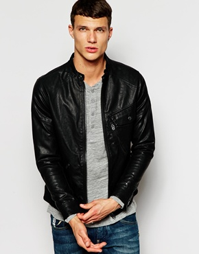 Faux Leather Jacket by G Star - Gift Ideas for Men
