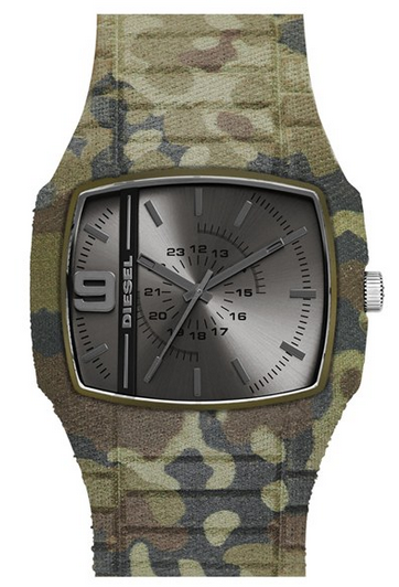 """Trojan"" Covered Silicone Watch by Diesel"