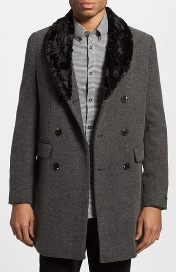 Double Breasted Wool Overcoat by Scotch & Soda - Gift Ideas for Men