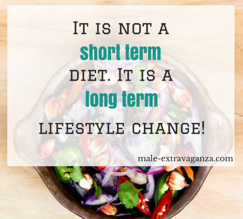 It is not a short term diet. It is a long term lifestyle change